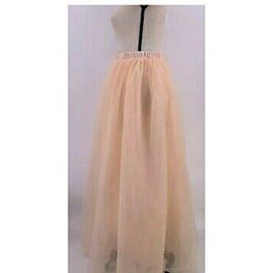 Long Maxi Tulle Skirt